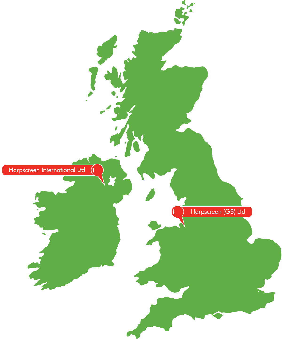 Harpscreen UK map