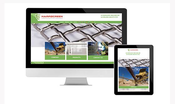 Harpscreen Website Launch