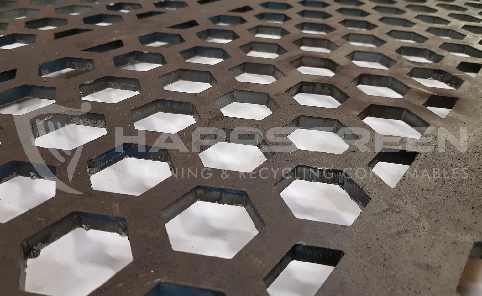 Hexagon holes perforated metal