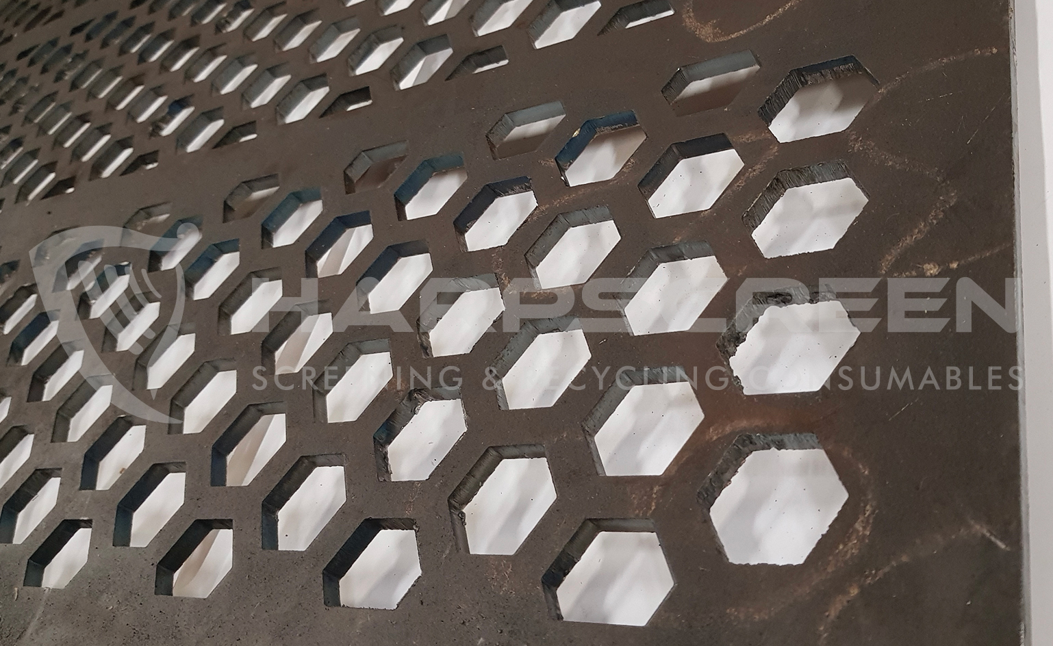 Hexagon holes perforated plate