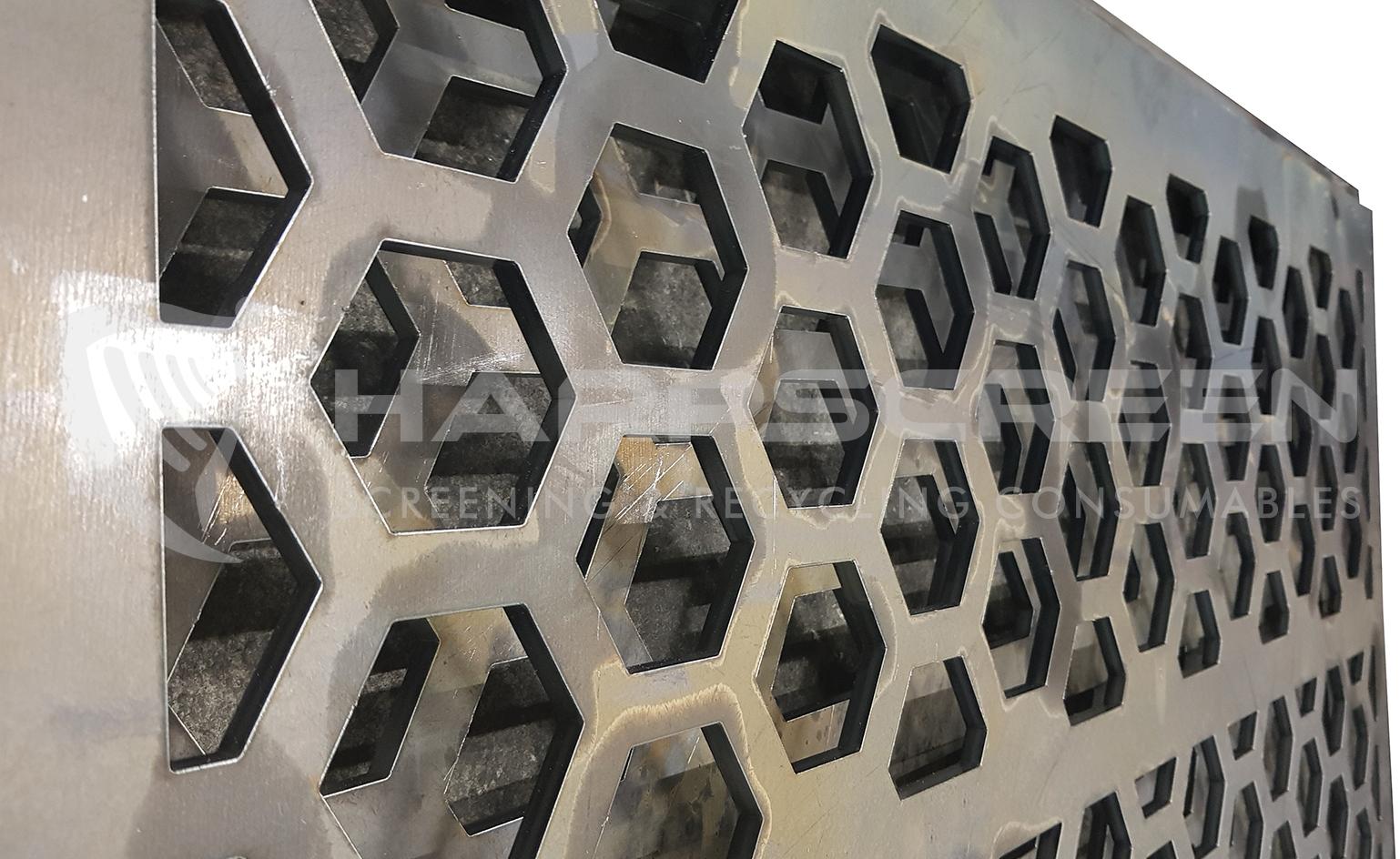 punch plate hexagon holes