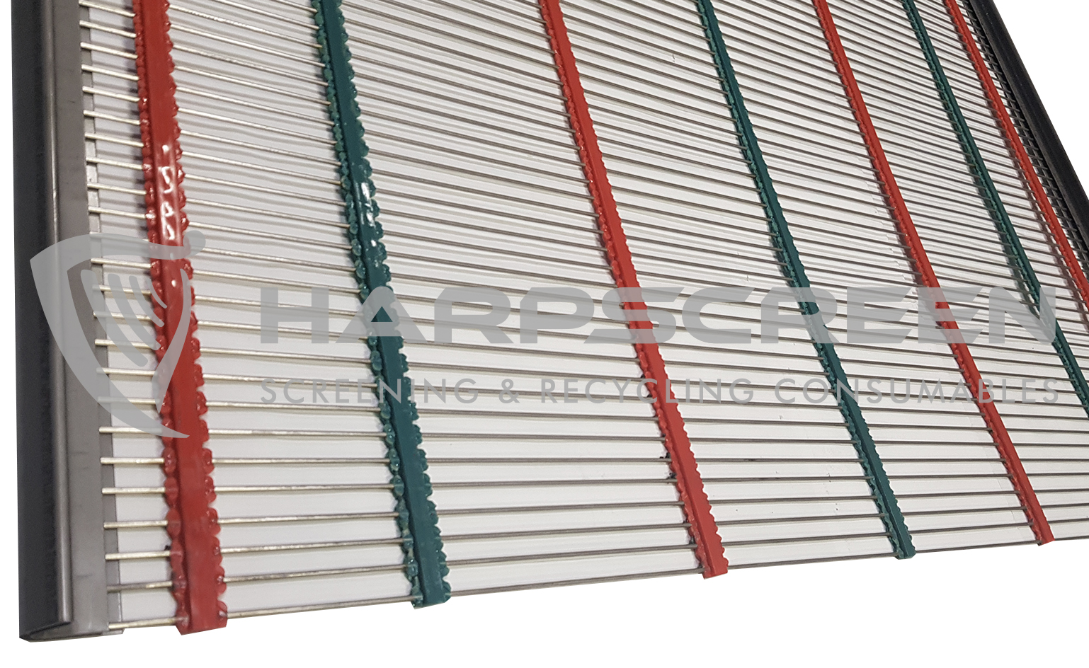Self cleaning piano wire screens pu crossbands