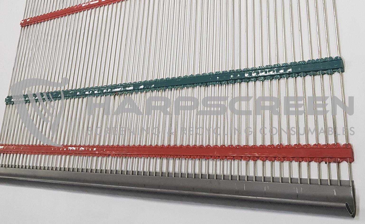 Piano wire screens pu crossbands